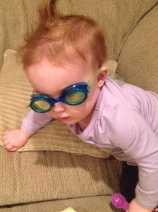 Amelia in goggles