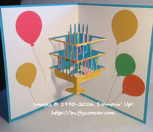Party Pop-Up Thinlits Dies, Stampin' Up!