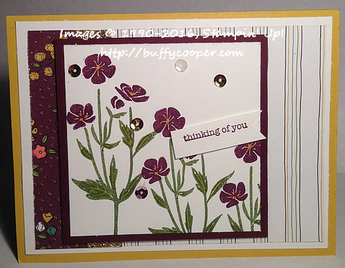 Flowering Fields, Wildflower Fields, Stampin' Up!, Sale-a-bration
