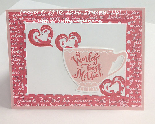 A Nice Cuppa, Stampin' Up!