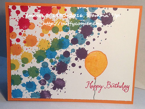 Perpetual Birthday Calendar, Stampin' Up!, Balloon Celebration