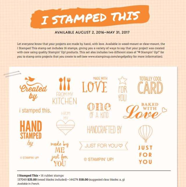 I Stamped This, Stampin' Up!