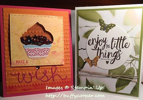 Serene Scenery, Cupcake Cutouts, Stampin' Up!