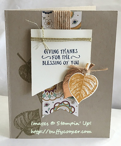 Vintage Leaves, Stampin' Up!