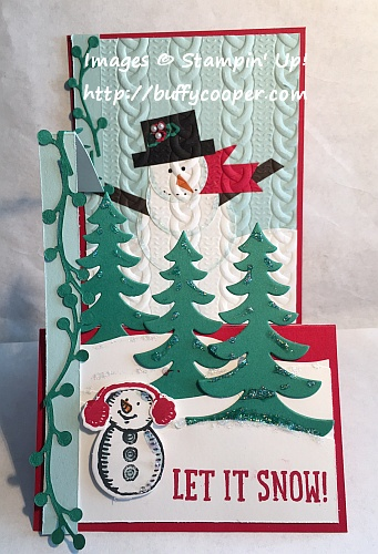 Snow Place, Christmas, Double Z-Fold, Stampin' Up!