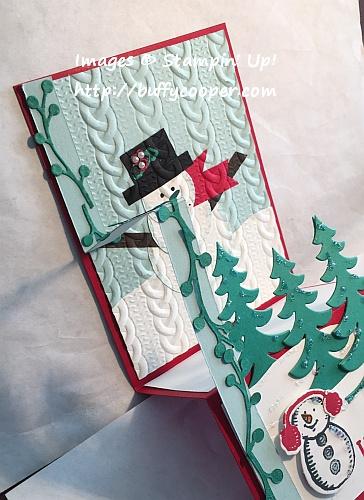 Z-Fold Cards, Stampin' Up!, Snow Place
