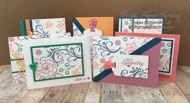 Falling Flowers, Stampin' Up!, Craft Project Central