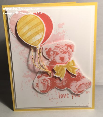 Balloon Adventures, Stampin' Up!, Gorgeous Grunge, Baby Bear