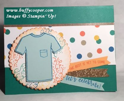 Stampin' Up!, Custom Tee, Balloon Adventures