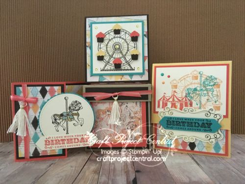 Cupcakes & Carousels, Stampin' Up!, Craft Project Central