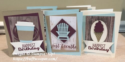 Coffee Cafe, Colorful Seasons, Cool Treats, Stampin' Up!