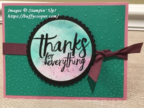 All Things Thanks, Stampin' Up!
