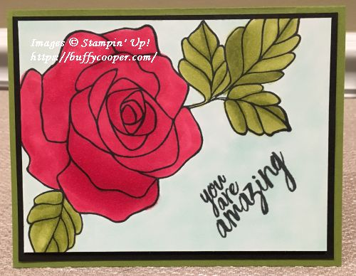 Rose Wonder, Stampin' Up!, Stampin' Blends