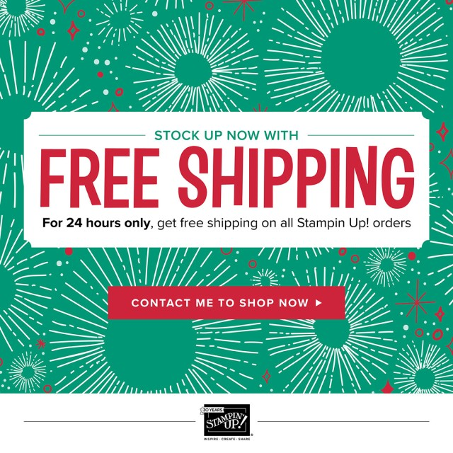 Free Shipping, Stampin' Up!, Coffee Cafe