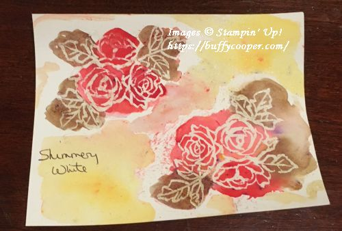 Brusho, Stampin' Up!, Petal Palette