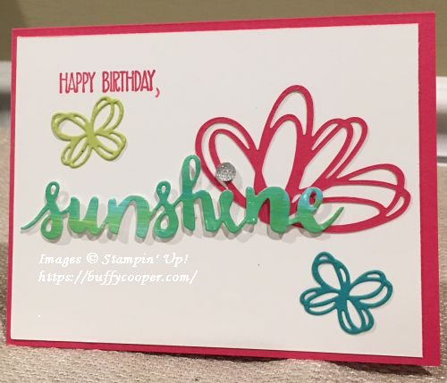 Sunshine Sayings, Sunshine Wishes, Stampin' Up!