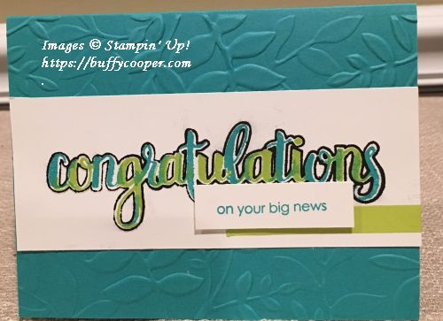 Amazing Congratulations, Stampin' Up!