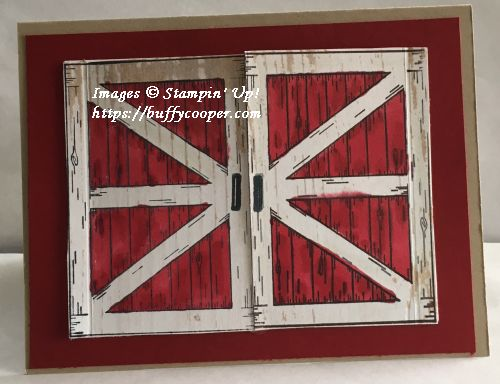 Barn Door, Stampin' Up!