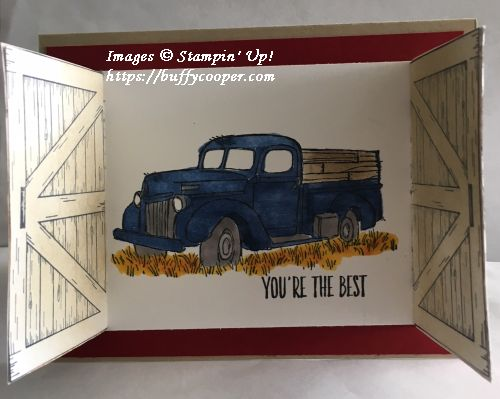 Barn Door, Stampin' Up!, All Things Thanks