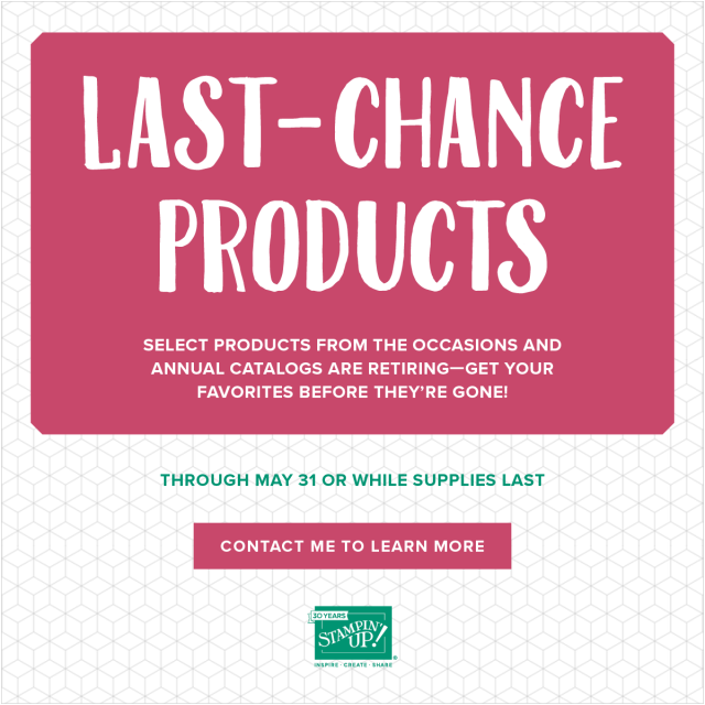 Stampin' Up!, Last Chance, Retiring