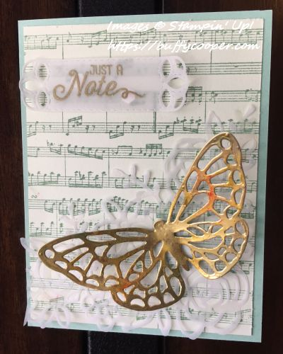Sheet Music, Flourishing Phrases, Stampin' Up!