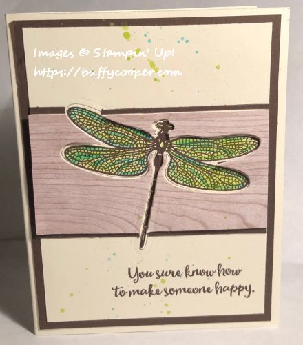 Stampin' Up!, Dragonfly Dreams, Set-back Stamping