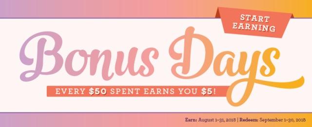 Bonus Days, Stampin' Up!