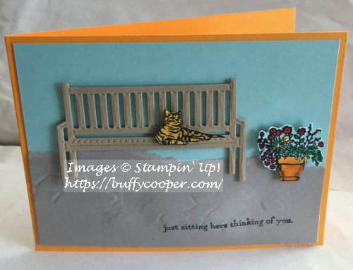 Sitting Here, Stampin' Up!