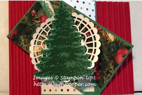Stampin' Up!, Winter Woods, Fancy Fold