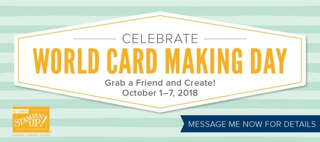 World Card Making Day, Stampin' Up!