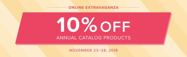 Stampin' Up!, Online Extravaganza, Black Friday