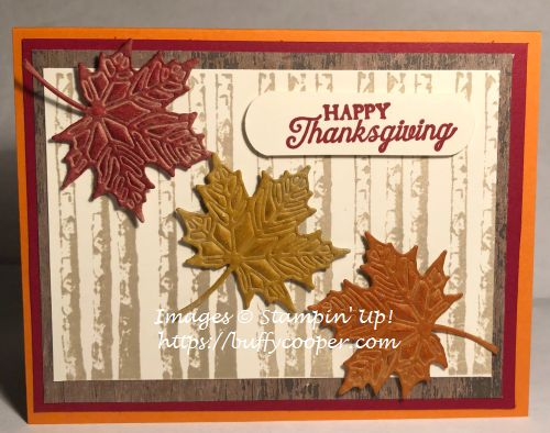 Stampin' Up!, Colorful Seasons, Pleasant Pheasans, Winter Woods