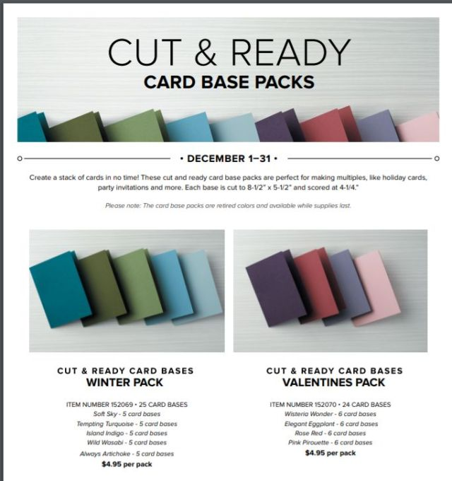 Stampin' Up!, Cut & Ready Card Bases