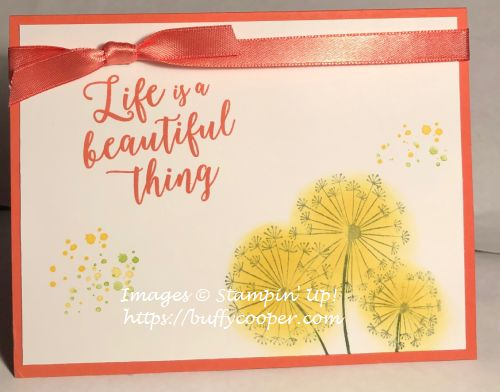 Stampin' Up!, Colorful Seasons, Dandelion Wishes, Timeless Textures