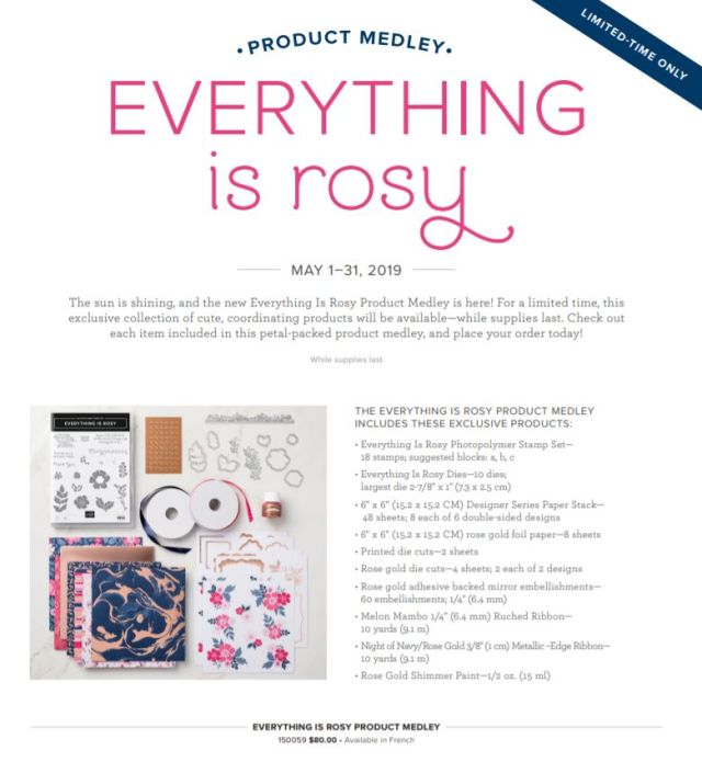 Everything Is Rosy, Stampin' Up!