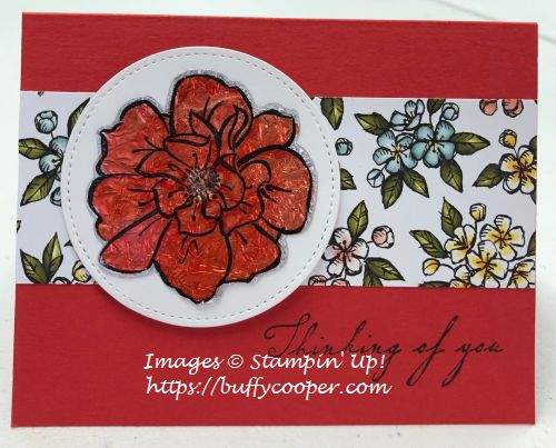 To a Wild Rose, Stampin' Up!, Stained Glass