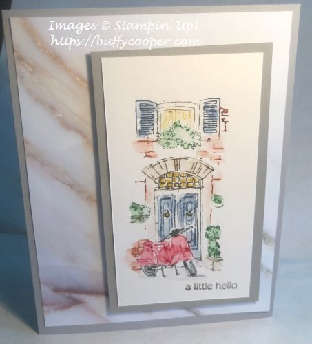 Mediterranean Moments, Stampin' Up!, Itty Bitty Greetings