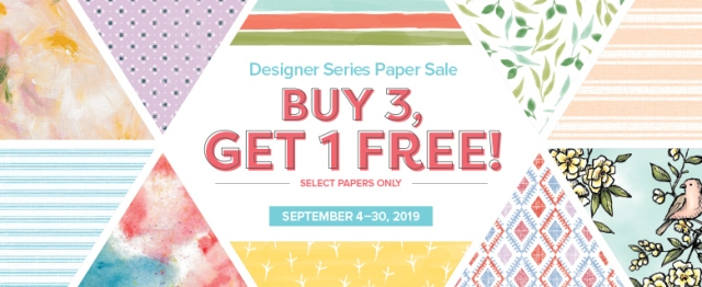 Buy 3 Get 1, Designer Series Paper