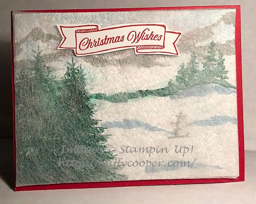 Snow Front, Stampin' Up!, Winter Woods, Toile Christmas