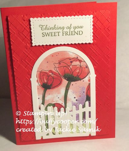 Honey Bee, Stampin' Up!, Peaceful Poppies