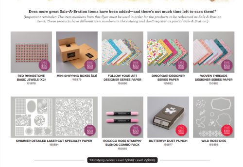 Sale-a-bration, Stampin' Up!