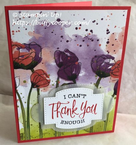 Stampin' Up!, So Sentimental, Peaceful Poppies