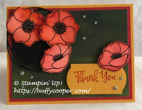 Painted Poppies, Peaceful Poppies, Stampin' Up!