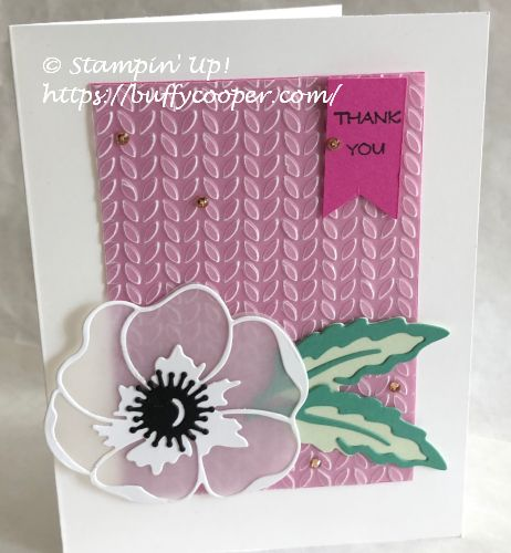 Peaceful Moments, Stampin' Up!, Poppy Moments