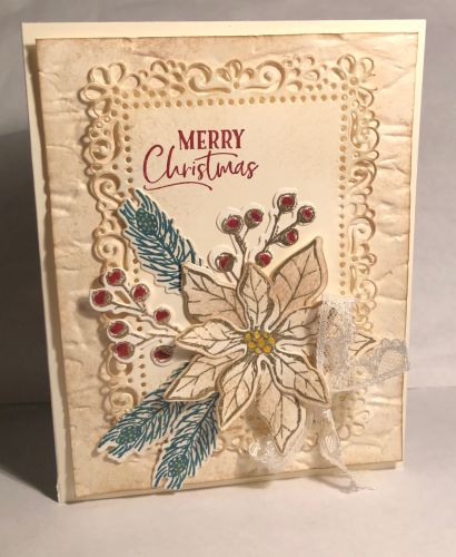 Poinsettia Petals, For Unto Us, Stampin' Up!, Christmas in July