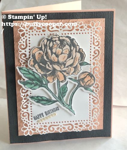 Prized Peony, Stampin' Up!, Ornate Layers, Itty Bitty Greetings