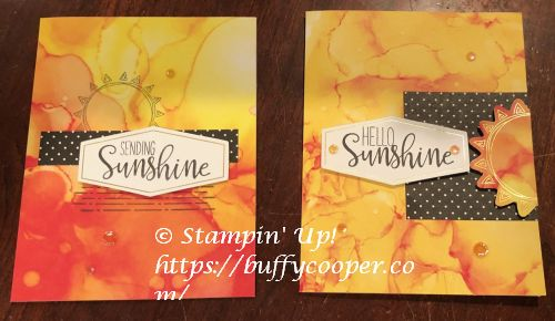 Paper Pumpkin, Stampin' Up!, Sending Sunshine