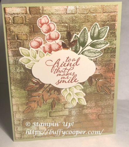 Forever Fern, Stampin' Up!, Faux Patina Background