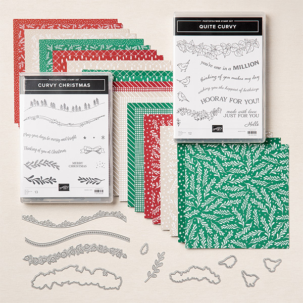 Quite Curvy, Quite Curvy Variety Bundle, Curvy Christmas, Stampin' Up!