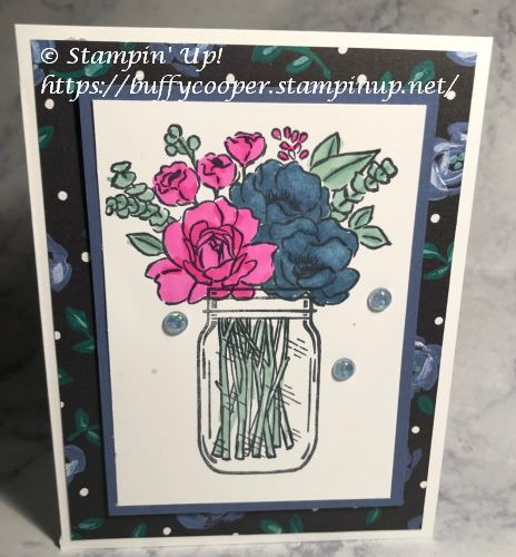 Jar of Flowers, Stampin' Up!